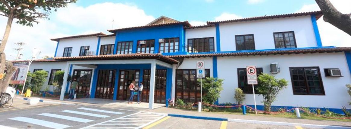 Foto da fachada do Centro de Cidadania de Rio das Ostras