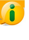 Logo da Lei de Acesso a informação - Descrição: Balão de fala amarelo com a letra i verde no meio, abaixo o seguinte texto (Acesso à Informação)