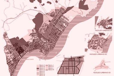 Mapas com os bairros da cidade