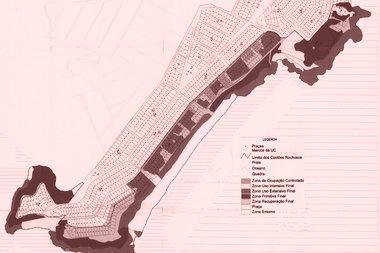Mapa do zoneamento do Monumento Natural dos Costões Rochosos