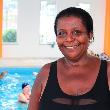 Foto da integrante do projeto Feliz Idade, Dona Joanita Vicente dos Santos