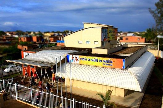 Foto aérea do Posto de Saúde da Família do Âncora