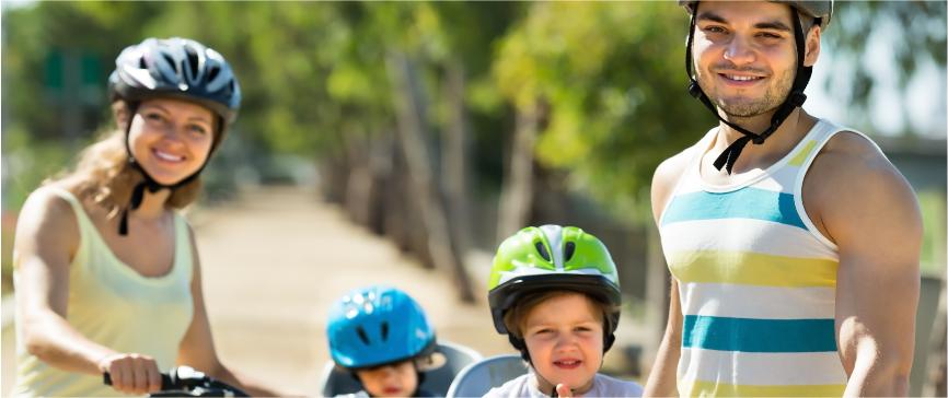 Família de ciclistas