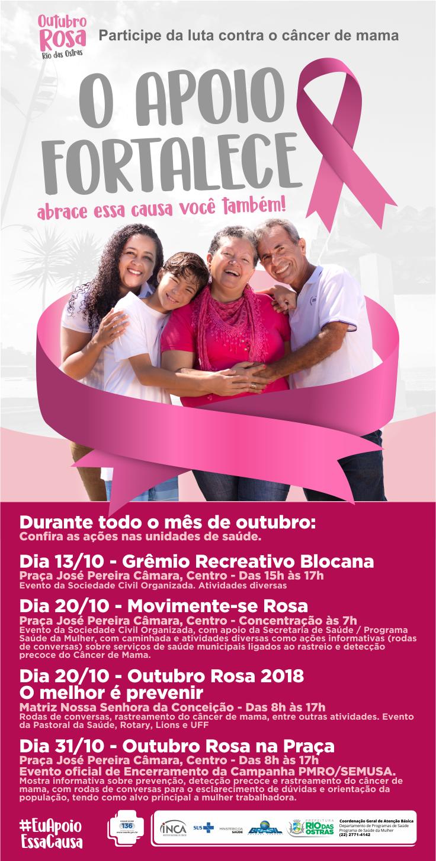 Outubro Rosa - O apoio fortalece, abrace essa causa você também!