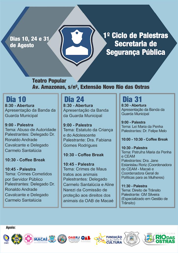 I Ciclo de Palestras - Secretaria de Segurança Pública