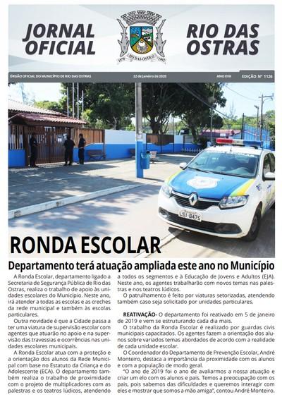 Capa do Jornal Oficial da semana